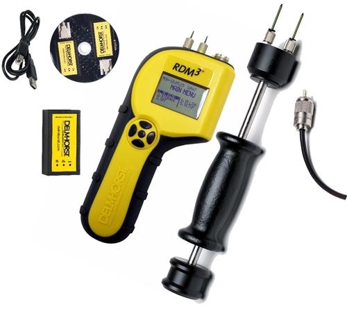 Newgrees Digital de madera Medidor de humedad Medidor de humedad relativa H/Ã/ºmedo del probador del detector de 4 pines del LCD