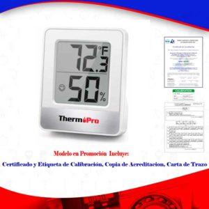 termohigrometro calibrado