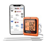 ermómetro inteligente para carne con Bluetooth y sonda doble